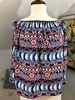 Womens Collective Concepts Off The Shoulder 3/4 Sleeves Top Size M