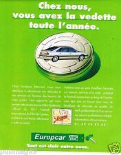 Publicité advertising 1997 Location de voitures Europcar