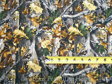 Advantage Timber Realtree Tree Branches Camo BY YARDS Cotton FLANNEL Fabric