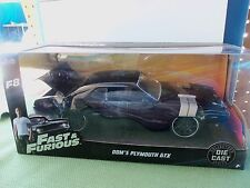 JADA 1/24 SCALE FAST & FURIOUS F8 DOM'S PLYMOUTH GTX DIE-CAST COLLECTORS SERIES