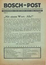 0003BO Bosch-Post 1938 2/38 Ewald Kluge DKW TT Zündkerzen Bremslicht Auto