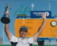 PADRAIG HARRINGTON SIGNED Autograph 10x8 Photo AFTAL COA 2008 Open Golf WINNER