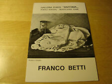 BROCHURE ARTE-FRANCO BETTI MONTECATINI TERME 1975