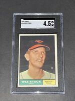 1961 Topps #26 Wes Stock SGC 4.5 Newly Graded & Labelled