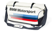 GENUINE BMW MOTORSPORT SPORTS BAG WHITE / TEAM BLUE 80222446464