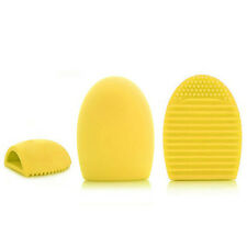 NEW Silicone Cleaning Egg for Washing MakeUp Brush Scrubber Board Tools Yellow
