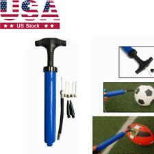 "Us 10"" Manual Bothway Inflator for Basketball Football Ball Swim Ring w/5Needles"