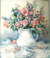 "Dimensions From The Heart Needlepoint ""Porcelain & Lace Bouquet Jodi Jensen 1990"