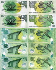 PAPUA NUOVA GUINEA - Papua New Guinea 2 Kina differenti Lotto 5 notes  FDS/UNC