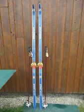 """Cross Country Skis 77"""" Long SPLITKEIN 200 cm Skis And Has Poles"""