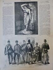 1869 HONGRIE UNIFORME ARMEE HOUZARD HULAN INFANTERIE