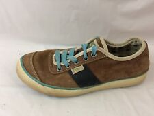 Simple Eco Sneaks 9966 Womens 6 Med Brown Black Blue Leather Suede Shoes Sneaker