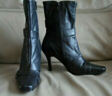 LILLEY & SKINNER LEATHER ANKLE BOOTS SIZE 4 BLACK + EXTRA HEEL TIPS