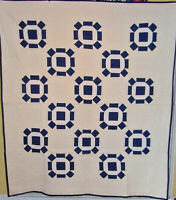 INDIGO 2 GENERATION  BLUE AND WHITE ROLLING STONE GREAT CONDITION NICE QUILTING