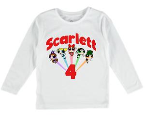 Personalised t-shirt powerpuff girls tee top birthday gift custom buttercup baby