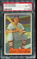 1954 Bowman Baseball #18 WALTER EVERS Boston Red Sox PSA 6 EX-MT
