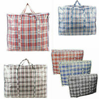 LAUNDRY STORAGE BAG SHOPPING BAGS ZIPPED STRONG JUMBO LARGE DURABLE SHOOPING