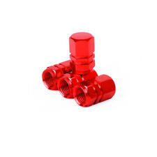 4pcs Red Tire Valve Stem Caps For  Ducati BMW Triumph Victory Chopper