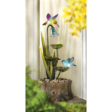 HUMMINGBIRD HAVEN ELECTRIC WATER FOUNTAIN GARDEN YARD DECOR~13900