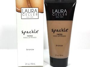 Laura Geller Spackle Tinted Make-Up Primer *Bronze* Full Size 2oz New In Box