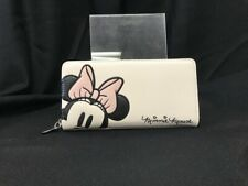 Loungefly Minnie Mouse Zipper Clutch Purse Official Disney with Stitched Designs