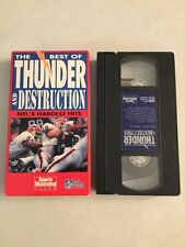 The Best of Thunder and Destruction NFL's Hardest Hits VHS