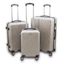 Reisekofferset 3-teilig Hartschalenkoffer Trolley Koffer Modell Style Champagne