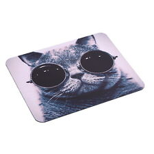 Mauspad Katze mit Sonnen Brille PC Computer Mausunterlage Anti-Rutsch Mousepad