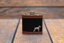 Doberman pincher - flask with image of a purebred dog, high quality, Art Dog USA