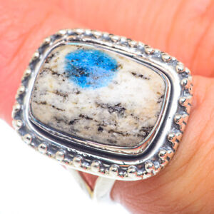 K2 Blue Azurite 925 Sterling Silver Ring Size 7.25 Ana Co Jewelry R73270F