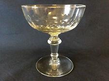 Coupe champagne taillée soufflée bullée Ets Richer Vierzon ( Thouvenin ) c 1862