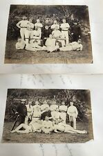HONG KONG ENGLISH CRICKET CREW REGATTA ROYAL ARTILLERY TATTOO 1890s RARE PHOTOS