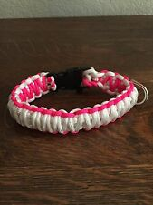 """Paracord Dog Collar Small (12""""long 1"""" Wide) King Cobra Style"""