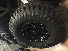 """(5) 17"""" Vision Arc Black Milled Wheels Rims 35"""" MT Tires 5x5 Jeep Wrangler JK"""