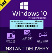 Windows 10 Pro 32/64 bit License Key Digital Download 1 PC Genuine✅