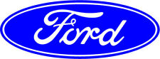 2 X Ford Style Oval Stickers Logo Badge car decal Fiesta Focus St Mondeo vinyl