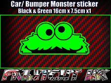 Peeping Peeking Monster Sticker, Car Bike Laptop Door scooter Funny Cute Green