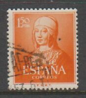 Spain - 1951, 1p50 Isabella stamp - Used - SG 1160