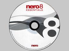 Nero 8 Essentials Full Version CD/DVD OEM CD DVD burner burn copy any music CD