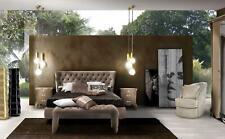 Luxus Schlafzimmer Set 4tlg. Bett + 2x Nachttisch + Hocker Moderne Design Betten