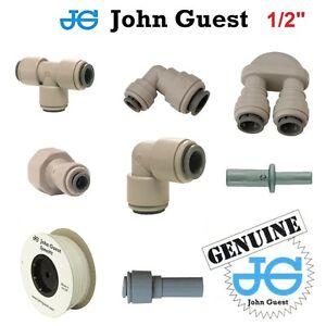 """1/2"""" John Guest Pushfit Pneumatic Fittings For Water Air Vacuum Filter Pump Pipe"""