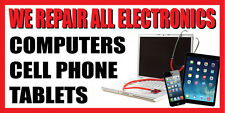 3'x6' CELL PHONE, COMPUTER, TABLET REPAIR BANNER SIGN  - screen repair iphone