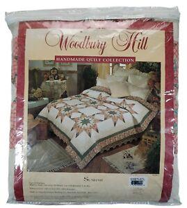 "New Woodbury Hill Sunham Handmade Collection Quilt King Bed 104"" x 86"""
