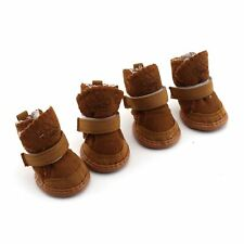 Warm Winter Cozy Pet Dog Chihuahua Boots Puppy Shoes For Small Dog Brown Size 3#