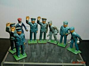 Vintage  LOT of 8   METAL RAILROAD WORKERS