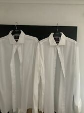 M&S White Luxury Collection Shirt Size 43..neck 17 Slim Fit.. 1x New.. 1xused