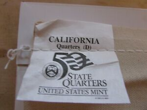 """Unopened $25.00 Mint Bag of California """"2005-D"""" State Quarters"""