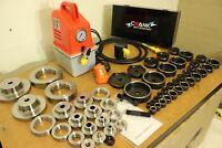 56 Pcs Dimple die + Electric Hydraulic kit. 16 - 114mm cut, 1/2-4 in Radius