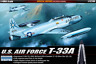 Academy 1/48 USAF T-33A Shooting Star Special Edition Plastic Scale Model Kit