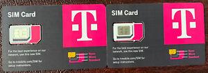 2X Newest T-Mobile R15 SIM card Triple Cut 5G Stand Alone 4G LTE SIM Nano Micro